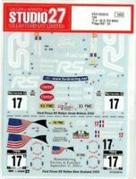 "STUDIO27 1/24 FOCUS WRC ""FLAG/RS"" New Zealand / Great Britain '01 DC531C Decal"