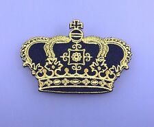 IMPERIAL CROWN ROYAL Embroidered Patch Iron Sew Logo Hardcore Emblem Custom GOLD