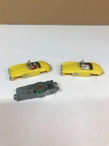 VINTAGE ORIGINAL 1960'S HO SCALE AURORA VIBRATOR MERCEDES SLOT CAR BODIES 2
