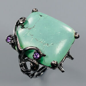Turquoise Ring Silver 925 Sterling Jewelry Handmade Gemstone Size 8.75 /R138938