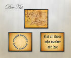 Lord of the rings Print Set of 3 wall art hobbit decor 8 x 10
