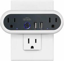 SIMBR Smart Wi-Fi -Plug,No Hub Required,Compatible with Amazon Alexa Google Home