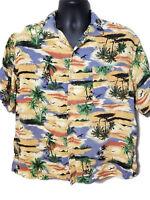 Tropicool Hawaiian Shirt Mens XL Tropical Island Print - Rayon