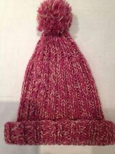 Cappello - rosa scuro e bianco con pallina sopra - privo di etichette - USATO