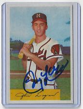 1954 BRAVES Johnny Logan signed card Bowman #80 AUTO Autographed Milwaukee (D)
