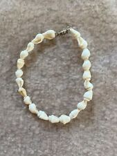 Bracelet, White Shells, Handmade in Bora Bora Nwot Boho Sea Shell Bead Anklet Or