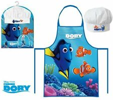 BOYS GIRLS KIDS DISNEY FINDING DORY COOK GIFT CHEF SET INCLUDES APRON AND HAT