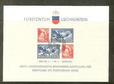 LIECHTENSTEIN BLOC N° 2 1936 OBLITERE COTE 50 €