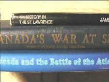 3 Vols History Canada's War at Sea RCN Royal Canadian Navy Atlantic St Lawrence