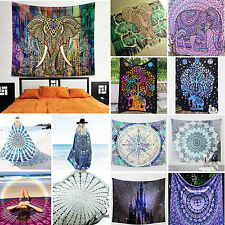 Boho Indian Tapestry Wall Hanging Mandala Gypsy Hippie Bedspread Throw Cover Up