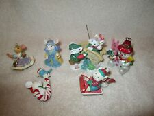 American Greetings Ornaments Lot of 6 Mouse Mice 1 Missing Arm Rest Gently Used