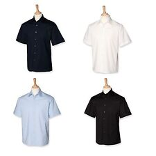 Cotton Short Sleeve Stretch Casual Shirts & Tops for Men