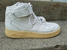 Men's Nike Air Force 1 White Wheat Basketball Shoes Size 10.5