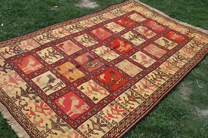 Super Fine Quality Quality 100% Silk Pictorial Full Soumak For Wall Hanging Rug