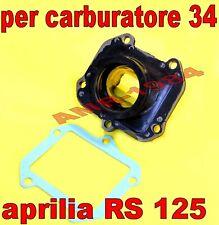 Collettore aspirazione carburatore 34 VHSB 34 PWK 34 Aprilia Rs125 Rotax 122 123