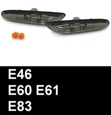 BMW 5 SERIES (E60 E61) 03-11 SMOKED CRYSTAL SIDE REPEATERS INDICATORS