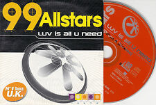 CD CARDSLEEVE 99 ALLSTARS LUV IS ALL U NEED 3 VERSIONS 1996 FRENCH EDITION