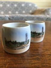 Two Vintage Kings Parade Bathurst Souvenir Ceramic Napkin Rings Czechoslovakia