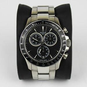 Tissot V8 Chronograph Black Face Silver Bracelet T106.417.11.051.00