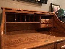 Antique American Oak Roll Top Desk