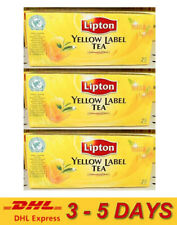 3 x Lipton YELLOW LABEL TEA International Blend 100% Natural Health 25 Teabags