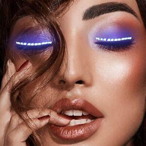 LED Light-Up False Eyelashes Fashional Lashes Pair Fake Eye Lash Party 1PC