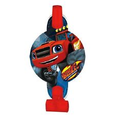 BLAZE and the MONSTER MACHINES BLOWOUTS (8) ~ Birthday Party Supplies Favors Red