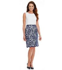 Alex Marie Tini Lace Wear to Work Sleeveless Knee Length Sheath Dress Sz 16
