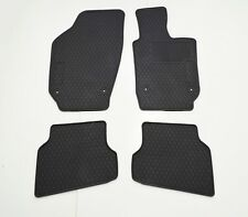 Rugged Rubber Floor Mats for VW Polo 6R 10-17 Black Front and Back