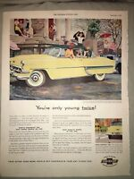 1954 10x13 Vintage Chevy Bel Air Sport Coupe Advertisement Orig Car Mag Print AD