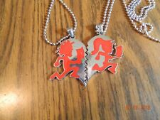 "ICP Juggalo/ lette  ""im hers /shes mine"" RED pendant with 30"" ball chains"