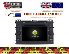 DVD GPS NAVI BT WIFI ANDROID 9.0 8CORE DAB+ CARPLAY TOYOTA PRADO 2002-09 V7640