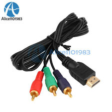 HDMI Male to 3RCA 3-RCA Video Component Connection Cable Cord Line