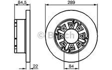 BOSCH Disco de freno (x2) 289mm ventilado VOLKSWAGEN GOLF AUDI A6 0 986 478 886