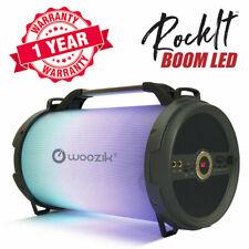Portable LED Light Bluetooth Speaker Wireless Boombox FM Radio SD Card USB AUX