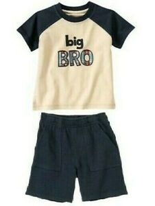 "GYMBOREE ""Big Bro"" Tee/Shorts NWT Boys 4T"