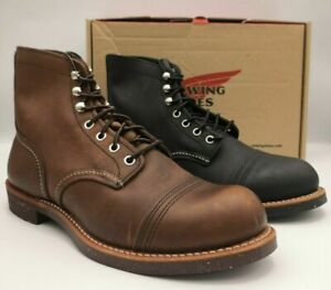 RED WING NEW 6-INCH IRON RANGER BOOT 8111 BROWN 8114 BLACK MENS BOOTS