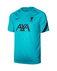 Liverpool Fc Nike Maglia Allenamento Training Shirt Verde maniche corte 2020 2