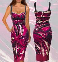 SALE! Roberto Cavalli ITALY Stretch SILK dress size 42-44  $869.00 OFF!