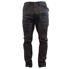 AKADEMIKS MEN'S SLIM-FIT STRETCH TWILL CHARCOAL JEANS STYLE A16JN02