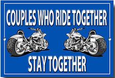 las parejas que montaje Together sujeción Together Metal Señal MOTO REFRANES