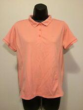COLUMBIA Sportswear Women's Pink Golf Shirt FLAMINGO Logo Sz Medium