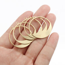 20Pcs Raw Brass Open Round Circle Charms Pendant Jewelry Necklace Earring Making