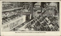 San Juan County Fruit Exhibit Colorado State Fair c1910 Postcard rpx