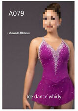 Hibiscus  figure skating dresse women competition ice skating dress