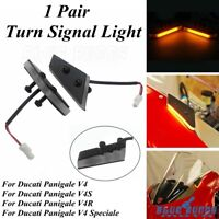 Front LED Mirror Block Off Turn Signal Indicator Light For Ducati Panigale V4R