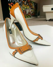 D&G DOLCE GABBANA Women's Designer Heels Shoes Pumps Leather Boxed 39 UK 6 US 9