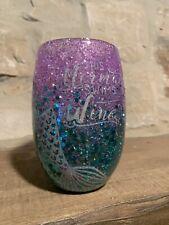 Glitter Wine Glass Mermaid