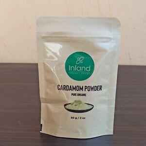 Ground Cardamom Powder 2 oz (50g) Premium, Aromatic, Non-GMO-by Inland Foods