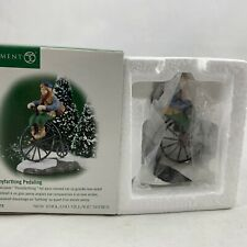 Dept 56 New England Village Accessory 1999 Pennyfarthing Pedaling 56615 Retired